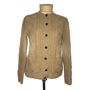Brooks Brothers Button Up Wool Cashmere Cardigan
